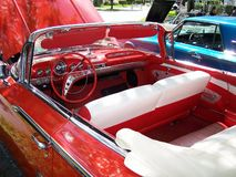 Classic Car 1960 Chevy Impala DS. Drivers side interior view of a 1960 Chevrolet Impala Convertible taken at The Fort Lauderdale Street Auto Show on September 11 stock images