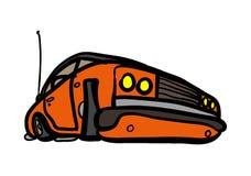 A classic car. A classic orange car Royalty Free Stock Photos