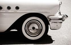 Classic car. Side view of classic car with front wheel Royalty Free Stock Photography