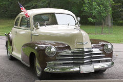 Classic Car 3. Classic chevy with an American flag attached to the window Royalty Free Stock Photography