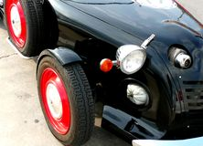 Classic Car. Close up of a classic car from the front left side Royalty Free Stock Photo
