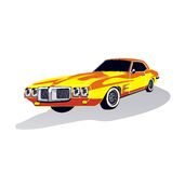 Classic car. Illustration of a classic car (fisheye distorted Royalty Free Stock Photos