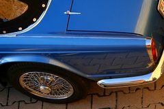 Classic car. Detail of a classic car Stock Photos