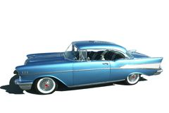 Classic Car. Classic metallic blue 57 Chevrolet hot rod Stock Photography