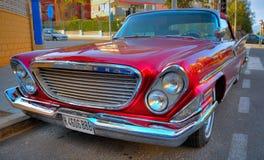Classic car antiguo. Classic car red antiguo Stock Image