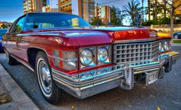 Classic car antiguo. Classic car red antiguo Royalty Free Stock Image