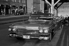 Classic car automobile parked on asphalt road in Bergen, Norway Stock Image