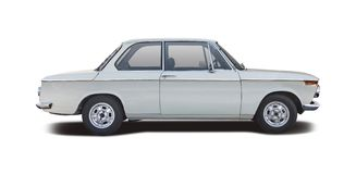 Classic car BMW 2002. Isolated on white Royalty Free Stock Images