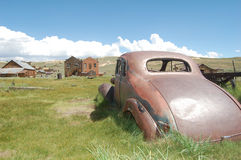 Classic car in Bodie Ghost Town Royalty Free Stock Images