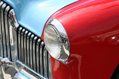 Classic car body. In red and blue Royalty Free Stock Images