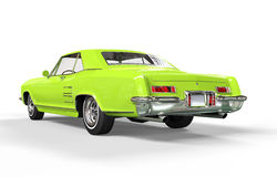 Classic Car Bright Green Rear View Royalty Free Stock Photos
