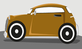 Classic car. Brown classic car come from old time Stock Image
