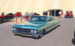 Classic Car: 1962 Caddy Coupe de Ville. This caddy coupe was on exhibition at Goodguys Rod & Custom Association's 5th Spring Nationals on March 7-9 at Royalty Free Stock Photography
