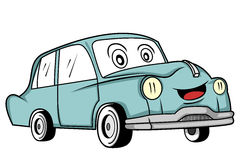 Classic car cartoon Stock Photography
