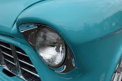 Classic Car chrome headlamp Royalty Free Stock Image