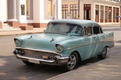 Classic Car in Cienfuegos, Cuba Royalty Free Stock Photos