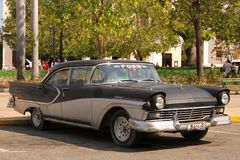 Classic Car in Cienfuegos, Cuba Royalty Free Stock Photos