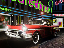 Classic car in the city Royalty Free Stock Images