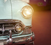 Classic Car. Close-up classic blue american car Royalty Free Stock Image