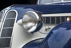 Classic car. Close up detail of vintage classic car Stock Image
