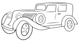 Classic car coloring page Stock Photos