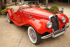 Classic car. Classic convertible red car parked Royalty Free Stock Images