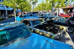 6/8/18 Lancaster Ca. Classic car cruise royalty free stock photography