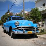 Classic car in Cuba Stock Image