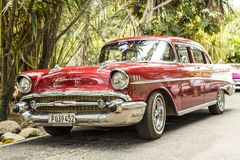 Classic car in Cuba Royalty Free Stock Photo