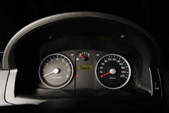 Classic car dashboard Stock Photos