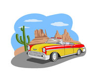Classic car in the desert Stock Image