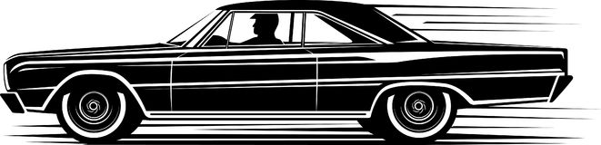 Classic Car Silhouette Illustration Megapixl - Classic car design