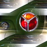 Classic car detail abstract Royalty Free Stock Photo