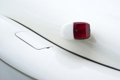 Classic car detail. Close up detail of car tail light Royalty Free Stock Photo