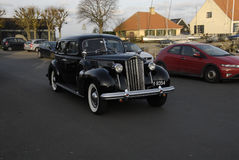 CLASSIC CAR. DRAGOR/COPENHAGEN/DENMARK_   Classic old Pakard car driving at habour site          29 November  2014 (Photo by Francis Joseph Dean/Deanpictures Royalty Free Stock Photos