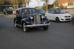 CLASSIC CAR. DRAGOR/COPENHAGEN/DENMARK_   Classic old Pakard car driving at habour site          29 November  2014 (Photo by Francis Joseph Dean/Deanpictures Royalty Free Stock Photography