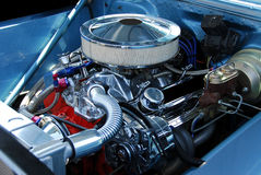 Classic Car Engine Stock Photography
