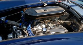 Classic car engine. At car show Royalty Free Stock Photos