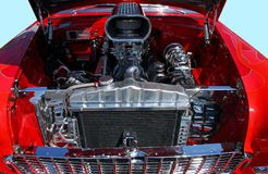 Classic car engine. Photographed powerful classic car engine at show in Georgia stock photography