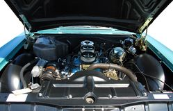 Classic car engine. Photographed powerful classic car engine at show in Georgia royalty free stock photography