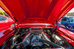 Classic car engine Royalty Free Stock Photos