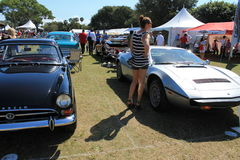 Classic car event Stock Photography