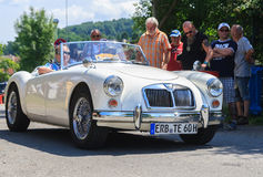 Classic car festival, Bad Koenig, Germany. BAD KOENIG - JULY 09: Classic car festival, Bad Koenig, Germany July 09, 2017 stock images