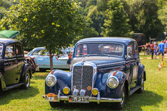 Classic car festival, Bad Koenig, Germany. BAD KOENIG - JULY 09: Classic car festival, Bad Koenig, Germany July 09, 2017 stock photo