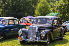 Classic car festival, Bad Koenig, Germany. BAD KOENIG - JULY 09: Classic car festival, Bad Koenig, Germany July 09, 2017 royalty free stock image