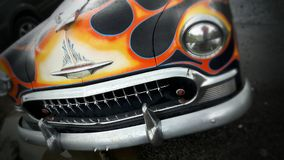 Classic car flames Stock Images