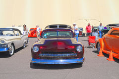Classic Car: 1950 Ford Mercury/Front View. This Mercury was on exhibition at Goodguys Rod & Custom Association's 5th Spring Nationals on March 7-9 at royalty free stock images