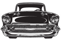 Classic Car Front. Illustration of the front of a classic car Royalty Free Stock Photos