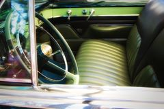 Classic car front seat detail Stock Photography