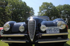 Old Alfa Romeo car front Royalty Free Stock Images